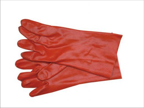 Vorel Rękawice gumowane czerwone długie 36cm 74151