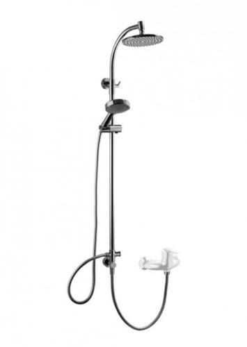Zestaw prysznicowy KFA Solaris z deszczownicą chrom (841-192-00)