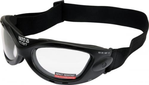 Yato Okulary ochronne bezbarwne 2876 regulowana elastyczna taśma (YT-7377)