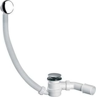 McAlpine Zestaw odpływowo-przelewowy z korkiem klik-klak chrom  (HC2600CL)