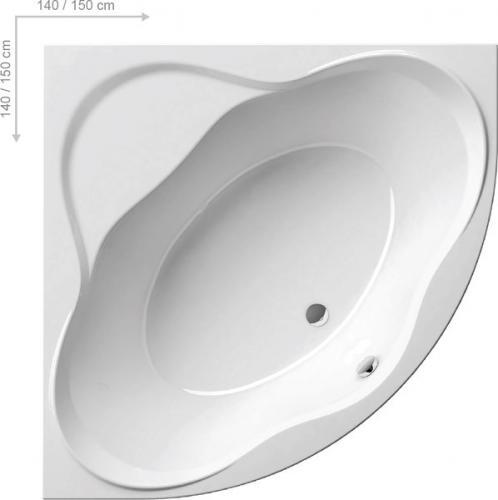 Wanna RAVAK NewDay narożna symetryczna 150 x 150cm  (C661000000)