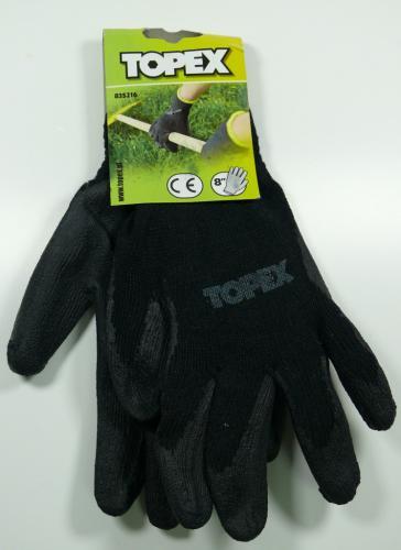 Topex Rękawice ogrodnicze powlekane latexem rozmiar S (83S216)