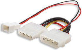 Manhattan Adapter zasilania do wentylatora 3 pin - 4 pin molex (330411)