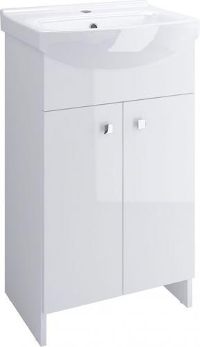 Zestaw szafka z umywalką Cersanit Sati 60cm biały połysk (S567-006-DSM)