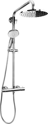 Zestaw prysznicowy KFA Luna z deszczownicą z baterią termostatyczną chrom (5716-910-00)
