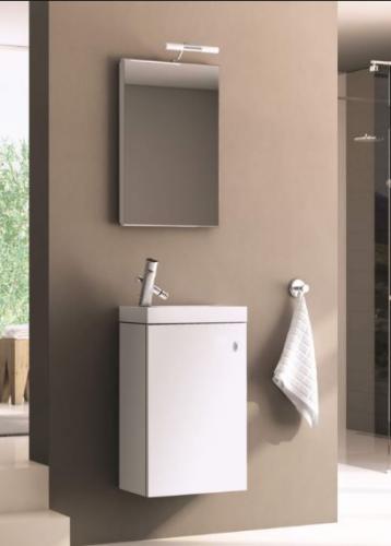Zestaw szafka z umywalką Aquaform Atlanta 39cm biały