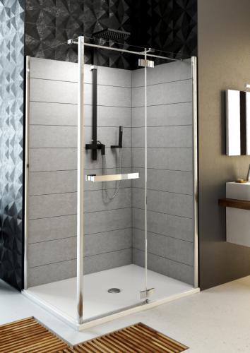 Aquaform Ścianka kabinowa HD COLLECTION/VERRA LINE 90cm szkło transparentne profil chrom - 103-09378