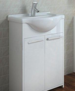 Zestaw szafka z umywalką Elita Itaka 61,5cm biały połysk