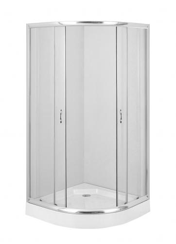 Deante Kabina Funkia 80cm półokrągła szkło transparentne profil chrom (KYP 052K)