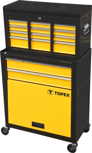 Wózek narzędziowy Topex 2 szuflady + nadstawka (79R500)