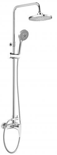 Zestaw prysznicowy Deante Peonia z deszczownicą z baterią chrom (NAC 019M)