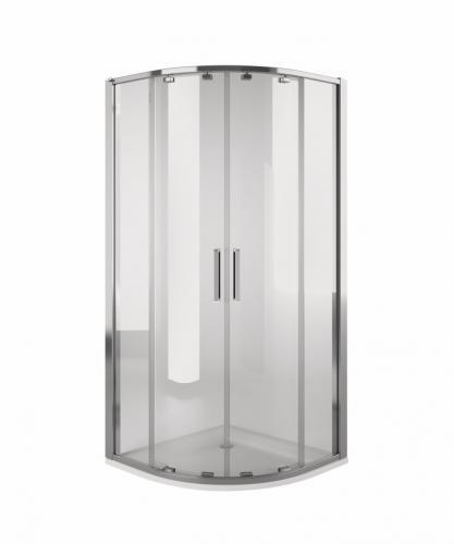 Koło Kabina półokrągła 90cm Screen Guard Ultra szkło transparentne profil chrom (OKPG90222003)