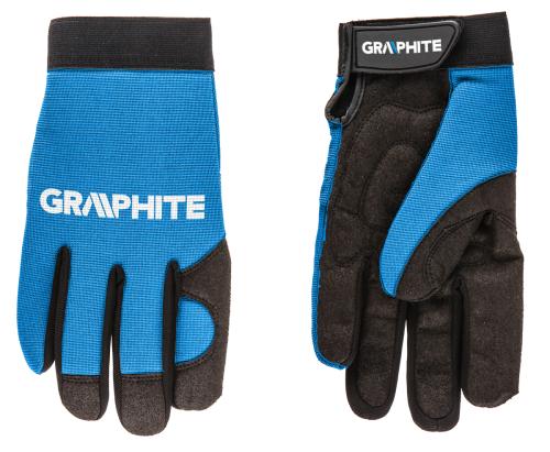 """GRAPHITE Rękawice robocze 10"""" skóra syntetyczna + elastyczna tkanina CE (97G100)"""
