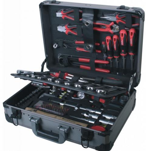 AIRPRESS Zestaw narzędzi 127 elementów aluminiowa walizka (75255)