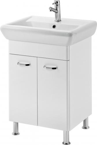 Zestaw szafka z umywalką Cersanit Alpina 50cm biały połysk (S802-002)