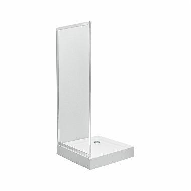 Koło Ścianka boczna FIRST 80cm srebrny połysk/szkło - ZSKX80