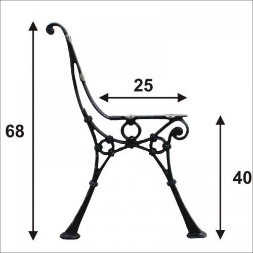 Noga do ławki średnia 4 deski