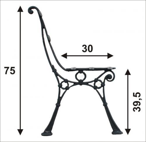 Noga duża do ławki bez oparcia bocznego 5 desek