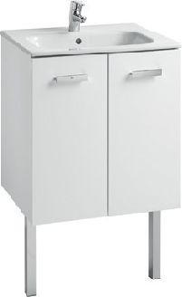 Zestaw szafka z umywalką ROCA Victoria Basic 58,5cm biały połysk (A855883806)