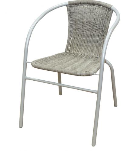 Mastergrill Krzesło z oparciem plecionym szare (JLC307)