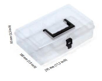 Prosperplast Organizer plastikowy 295 x 180 x 85mm transparentny (NUN12)