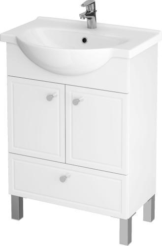 Zestaw szafka z umywalką Cersanit Sido 59,5cm biały (S801-080-DSM)
