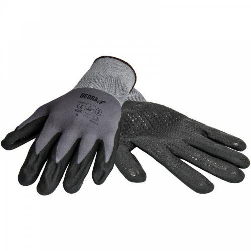 Dedra Rękawice ochronne nitrylowe, nakrapiane rozmiar 9 (BH1006R09)