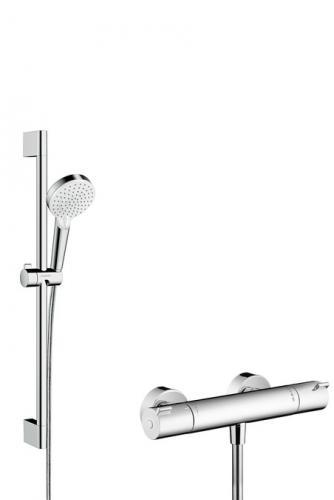 Hansgrohe Zestaw prysznicowy z termostatem Crometta Vario Combi 1001 CL 0,65m chrom (27812400)
