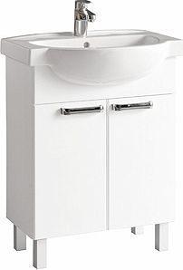 Zestaw szafka z umywalką Koło Freja 50cm biały połysk (L79004000)