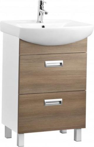 Zestaw szafka z umywalką KFA Sella Gold 46cm biały + brąz (999999998)