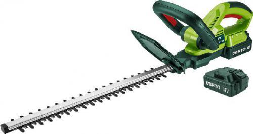 VERTO Nożyce do żywopłotu akumulatorowe 2 x 18V Li-Ion / 1,3Ah szerokość cięcia 510mm (52G568)
