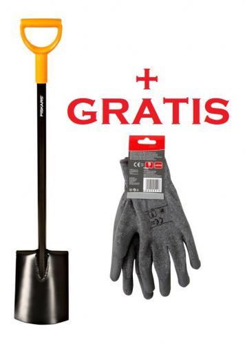 Fiskars Szpadel prosty Solid™ Y 117cm (131403) + rękawice męskie Lahti Pro rozmiar 10 (1003456)