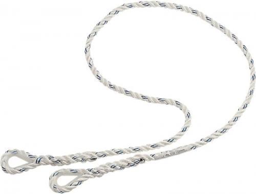 DELTA PLUS Lina poliamidowa 12mm 2 pętle z kauszą biała 1,5m (LO007150)