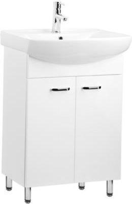 Zestaw szafka z umywalką KFA Sella Silver 53cm biały połysk (551313153431)