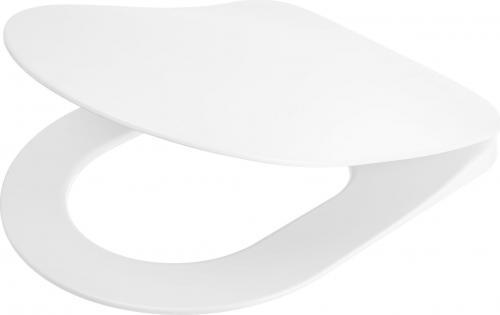 Deska sedesowa Deante Peonia Slim wolnoopadająca biała (CDE 6SOZ)