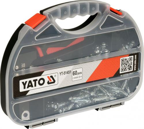Yato Zaciskarka do kołków molly karton-gips z 60 kołkami (YT-51451)