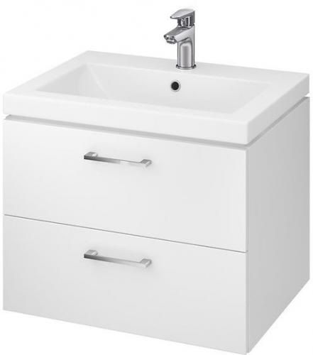 Zestaw szafka z umywalką Cersanit Lara 60cm biały połysk (5902115729133)