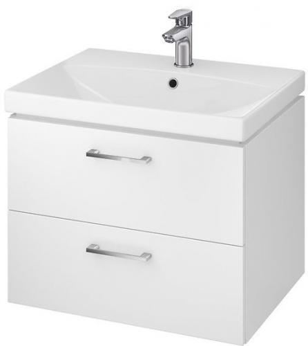 Zestaw szafka z umywalką Cersanit Lara 60cm biały połysk (5902115729089)