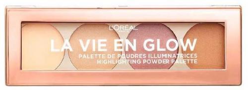L'Oreal Paris Paleta rozświetlaczy La Vie En Glow Highlighting Powder Palette 01