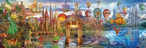Clementoni Puzzle, 1000 elementów. Panorama HQC - Fantasy  (39424 CLEMENTONI)