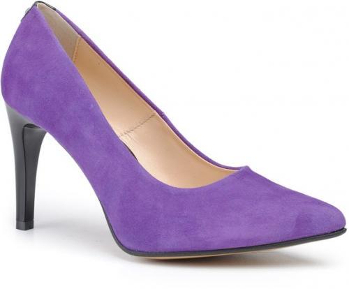 Marco Shoes Szpilki ze skóry zamszowej 1352 fioletowe r. 38