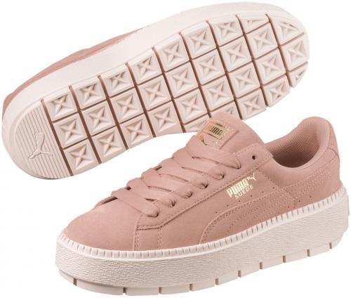 buty puma damskie biało różowe