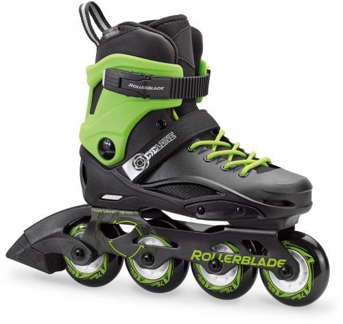 Rollerblade Łyżworolki juniorskie CYCLONE czarno-zielone r. 38-39 (078478009C5)
