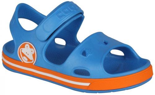 Coqui Sandały dziecięce FOBEE niebiesko-pomarańczowe r. 21/22 (8851)