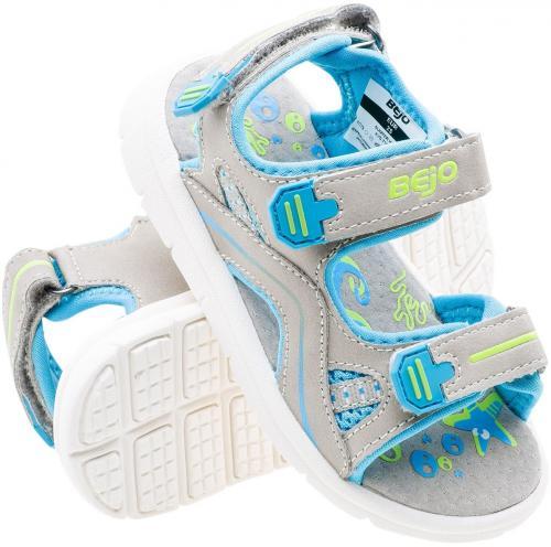 BEJO Sandały dziecięce Sumter Kids Grey/Blue/Light Lime r. 26
