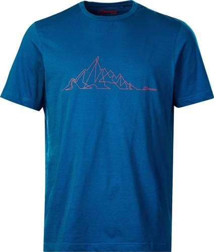 BERGHAUS Koszulka męska Branded Mountain Line Tee Snorkel Blue r. M (22165)