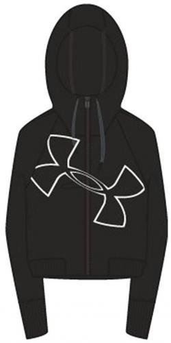 Under Armour Bluza damska Big Logo WM FZ Hoodie czarna r. XS (1320609-001)