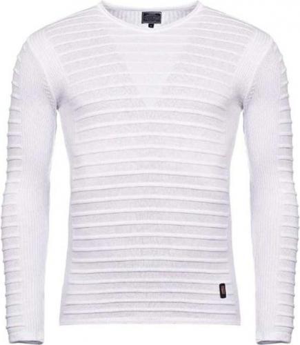 YNS Sweter męski 27005-4 biały r. S 7445
