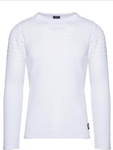 YNS Sweter męski 27004-3 biały r. S