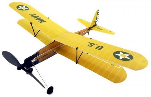 ZT Model Szybowiec Aviator-Biplane 430mm z napędem gumowym (ZT/XA03101)